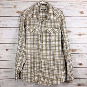 Eddie Bauer Plaid Shirt Size 2XL Classic Fit